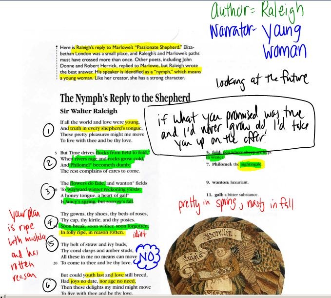 an analysis of the nymph s reply The nymph's reply to the shepherd stanza symbol analysis in the nymph's reply, nature and natural imagery are presented as constantly in decay and moving.