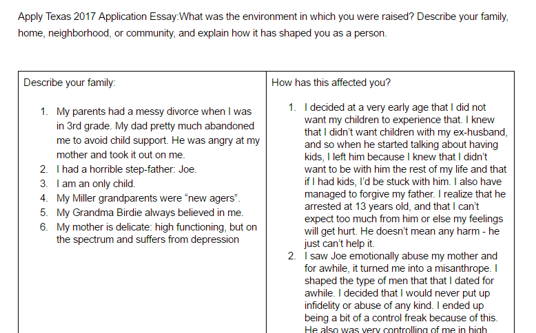 essay pride o riley example apply texas